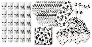 Mickey Mouse - Kindergeburtstags-Set I (82-teilig) Birthday Kids Decor Disney