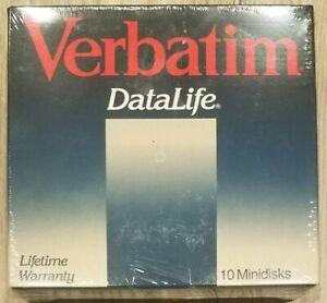 """Vintage Apple Verbatim MD 577-01 Super Rare Single Sided Quad Density 5.25"""" Disk"""