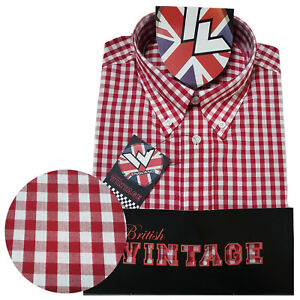 Warrior UK England Button Down Shirt GOVER Hemd Slim-Fit Skinhead Mod SMALL only