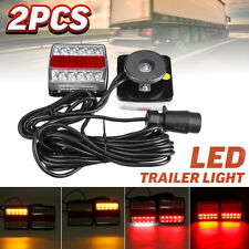 2X MAGNETIC LED TRAILER TOWING LIGHTBOARD LIGHTS 10 METRE REAR LAMP BIKE TRACTOR