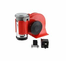 12V Motorcycle Car Compact Dual Tone Electric Pump Vehicle Siren Loud Air Horn !