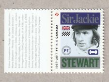 FORMULA 1, F1 = SIR JACKIE STEWART Miniature Sheet stamp MNH Canada 2017 #2992a