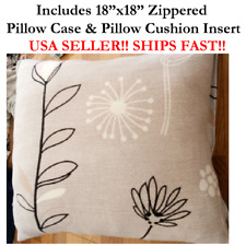 "18"" 18x18 Daisy Daisies Zinnas Dandelions FLOWER Zippered Throw Pillow Cushion"