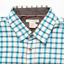 Carbon 2 Cobalt Men's S  Button Shirt Short Sleeve Blue/White Shepherd's Check