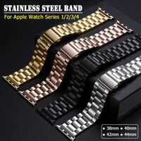 38/42 40/44mm iWatch Band Stainless Steel Bracelet Strap for Apple Watch 1 2 3 4