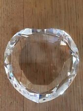 "3.25"" Heart-shaped Diamond Clear Crystal Paperweight"
