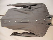 Orvis Mens Grey Houndstooth Long Sleeve Cotton Shirt M