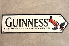 Guinness Brewery Sign Large Cast Iron Reproduction Wall Plaque Dublin Toucan