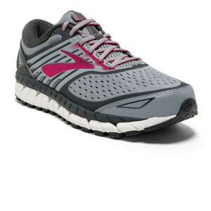 Brooks Womens Ariel '18 Running Shoes Trainers Sneakers - D Width Grey Sports