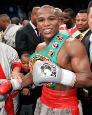 Boxing World Champion Boxer FLOYD MAYWEATHER JR Glossy 8x10 Photo Belt Print