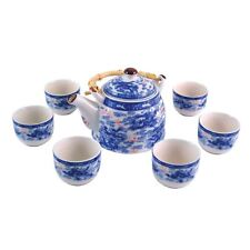 More details for chinese tea set - blue and white - nine dragon pattern - gift box