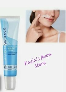 Avon Works Facial Hair Removal Cream(15ml) for sensitive skin with Aloe Vera New