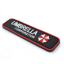 RESIDENT EVIL UMBRELLA CORPORATION 3D PVC ARMY HOOK PATCH MORALE BADGE