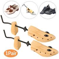 1Pair Women Men Wooden Adjustable 2-Way Shoe Stretcher Expander Boot Shaper Tree