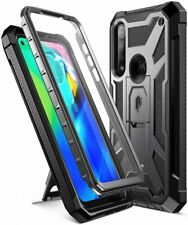 Moto G Powe Case,Poetic Kick-Stand Shockproof Protective Cover w/Leather