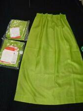 "2 Prs Nos Vtg Lime Green Speigel Fiberglass Curtains 4 panels Each 24"" x 62"""