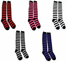 Poizen Industries OK STRIPE SOCKS Ladies Goth Punk Emo Sox Clearance Sale New