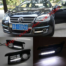 Direct Fit 2006-10 VW Jetta MK5 9-LED High Power LED DRL Daytime Running Lights