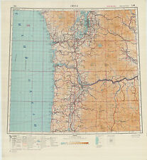 Russian Soviet Military Topographic Maps  - sheet  SEATTLE (USA), ed.1949