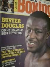 World Boxing Magazine December 1990 Buster Douglas, Thomas Hearns Vs Virgil Hill