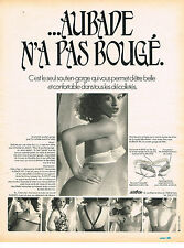 PUBLICITE  1974   AUBADE  soutien gorge