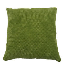chenille spot cushion cover green (56x56cm)