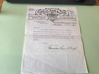 Barclay Ross & Tough Factory & Warehouse Aberdeen 1907   Receipt 49628