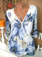 Geblümte Klassische Damenblusen,-Tops & -Shirts im Tuniken-Stil für Freizeit
