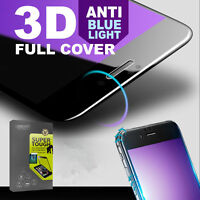 3D Full Cover Anti Blue Light Tempered Glass Screen Protector for iPhone 6/7Plus