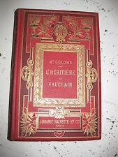 1888 Colomb L'héritière de Vauclain Cartonnage gravures de Delort livre d'enfant