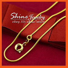 24K GOLD GF N99 SNAKE CHAIN for Pendant XMAS GIFT LADY GIRLS SOLID NECKLACE 45CM
