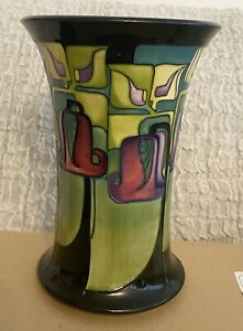 Unusual Pattern Moorcroft Vase Stamps To Base