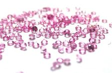 1+ Carats 1mm PINK SAPPHIRES round brilliant cut minimum 150 pieces
