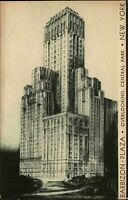 New York Amerika USA 1934 Central Park Barbizon Plaza Hotel Hochhaus Skyscraper