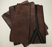 Leather Scraps Arts and Crafts Approx 1 Metre Square in Total DARK BROWN