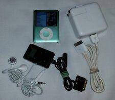 Apple IPOD Nano Tiffany Blue 3rd Generation 8GB Model A1236, w/Earbuds + Bundle