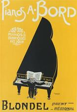 Pianos A Bord Blondel Poster Fine Art Lithograph Hand Pulled P.F. Grignon COA S2