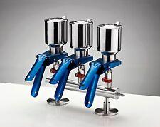 Azzota 3-Branch Vacuum Filtration Manifolds, 316 Grade Stainless Steel