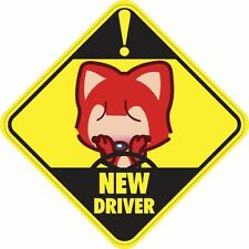 NEW DRIVER Sticker Decal Car Sign Buy 2, Get 3rd FREE Made in USA