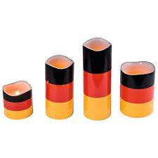 "4er Set LED Kerzen Motiv ""Deutschland"" flackernd Kerze Wachs Germany Fußball"