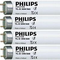 """Philips T8 Fluorescent Tubes 18"""" 38"""" 2' 3' 4' 5' 18W 30W 36W 58W 70W 1x 10x 25x"""