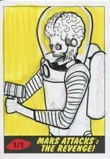 Mars Attacks The Revenge Sketch Card By Cathy Razim