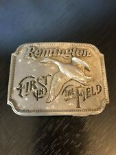 Remington First in the Field Belt Buckle Featuring Canada Goose