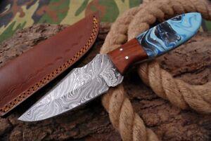 MH KNIVES CUSTOM HANDMADE DAMASCUS STEEL FULL TANG HUNTING/SKINNER KNIFE D-79K