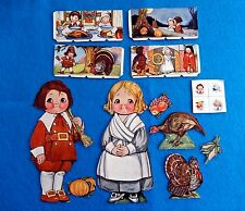 Dolly Dingle Billy'S Thanksgiving Paper Dolls Pictorial Review 1900 Original
