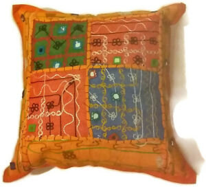"""Stunning Cushion Cover 16"""" x 16"""" Handmade in Nepal using Traditional techniques"""