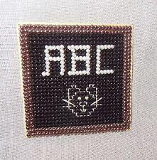 New A.B.C. Chalkboard Cat Fridge Magnet Handmade Glass Beads Finished Mill Hill