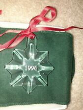 Orrefors Swedish Crystal 1996 Star Christmas Ornament w/Original Packaging