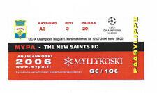 TICKET 2006/07 UEFA CHAMPIONS LEAGUE-PALLO V. i NUOVI SANTI