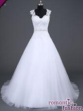 ♥Brautkleid, Hochzeitskleid Maßanfertigung alle Größen Weiß oder Creme+W048nM♥